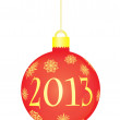 Royalty-Free Stock Vector Image: Christmas ball 2013