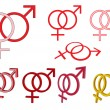 Stock Vector: Gender symbols