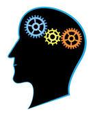 Brain activity — Stock Vector