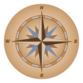 Retro compass — Stock Vector