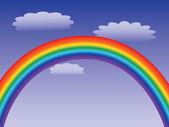 Rainbow in a sky — Stock Vector