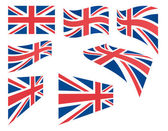 Set of United Kingdom flags — Stock Vector
