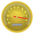 Happy new year 2013 speedometer — Stock Vector