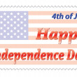 Happy Independence Day post stamp — Stock Vector