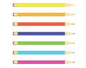 Renkli kalemler set — Stok Vektör