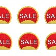 Set of sale stickers — Stock Vector