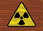Radioactivity trefoil sign — Stock Vector