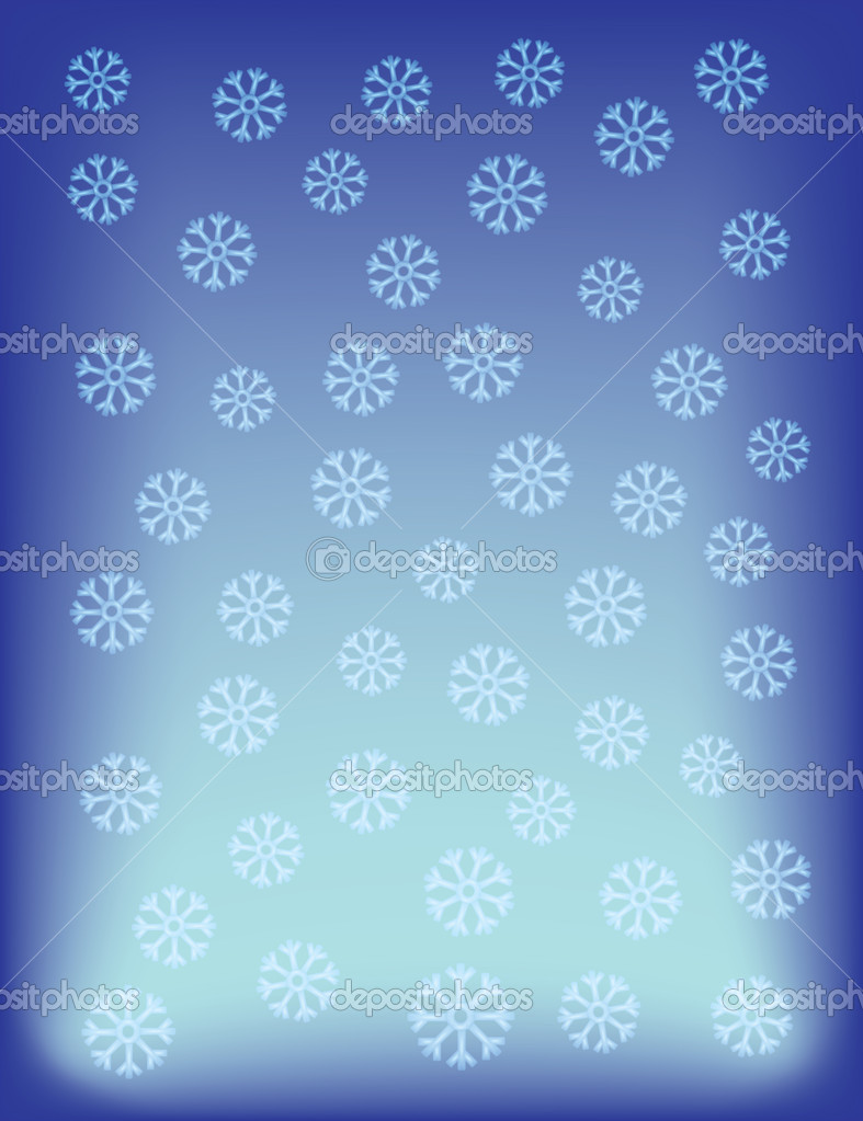 Blue abstract background with snowflakes vector illustration — Stock Vector #9900253