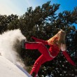 Woman playing with snow — Stock Photo #8869220