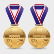 Gold medals - Stock Vector
