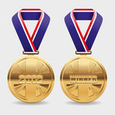 Gold medals — Stock Vector