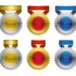 Award medals with ribbon — Stock Vector