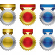 Royalty-Free Stock Vector Image: Award medals with ribbon