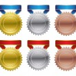 Royalty-Free Stock Vector Image: Gold Silver Bronze Award Medals