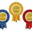 Award seals rosettes — Stockvectorbeeld