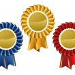 Royalty-Free Stock Vector Image: Award seals rosettes