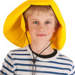Royalty-Free Stock Photo: Portrait boy with rain hat