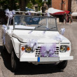 White open wedding car — Stock Photo