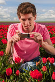 Taking pictures in Holland — Stock Photo