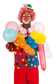 Portrait funny clown — Stock Photo