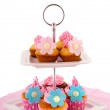 Many cupcakes at cake layer — Stock Photo #10368477