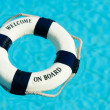 Life buoy floating in swimming pool - Foto de Stock