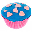 Stock Photo: Pink and blue cupcake