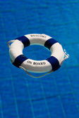 Life buoy in the swimming pool — Foto de Stock