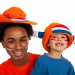 Young Dutch soccer supporters — Stock Photo #10560535