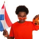 Dutch soccer supporter — Stock Photo