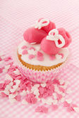 Cupcake for a baby girl — Stock Photo