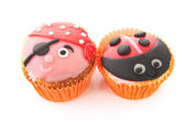 Cupcakes with child decoration — Foto Stock