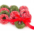 Chocolate christmas wreaths — Stock Photo