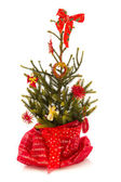 Red Christmas tree — Stock fotografie
