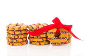 Christmas wreaths cookies — Stock Photo