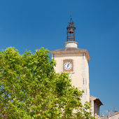 Church tower in Aiguines — Stock Photo