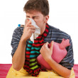 Very ill man - Stock Photo