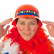Dutch woman as soccer fan — ストック写真
