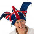 Woman with Brittain funny hat — Stock Photo #8768497