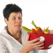 Young woman with vegetables — Stock Photo #8768515