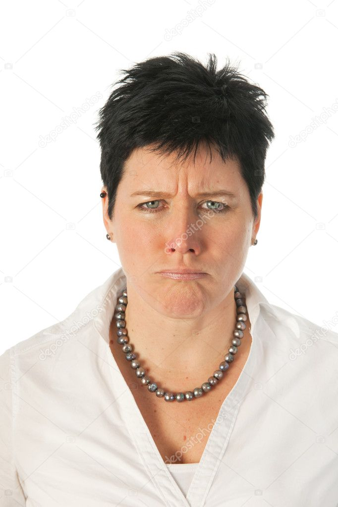 Angry young woman as studio portrait — Stock Photo #8768517
