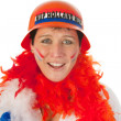 Dutch woman as soccer fan — Stock Photo #8973486