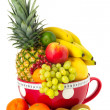 Big cup various fruit — Stock Photo