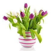 Kleurrijke boeket tulpen — Stockfoto