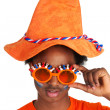 Dutch soccer supporter — Stock Photo