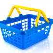 Blue shopping basket — Photo