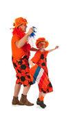 Hollandalı turuncu futbol taraftarları — Stok fotoğraf