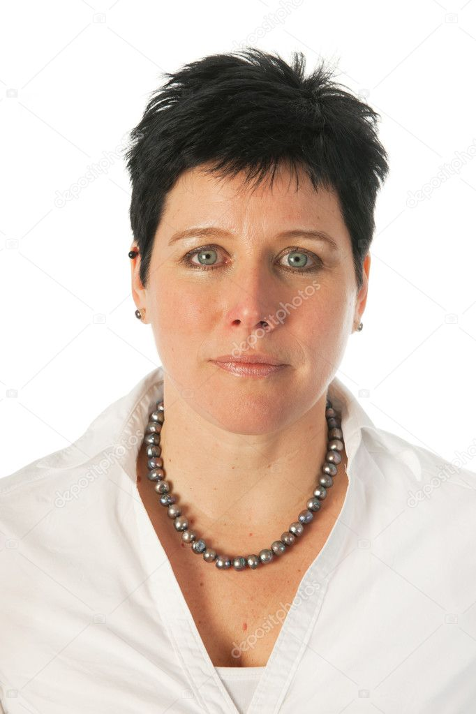 Young woman as studio portrait — Stock Photo #9577919