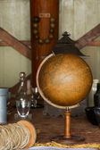 Old globe in the ship — Stock Photo