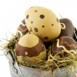 Sinc bucket easter eggs — Stock Photo